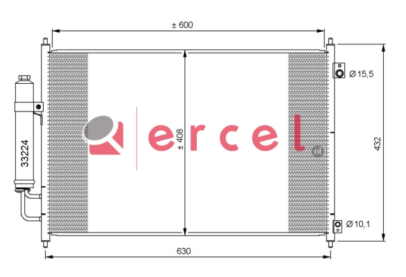 Airco condensor NIC 553