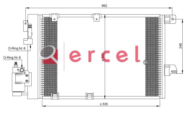 Airco condensor OPC 540