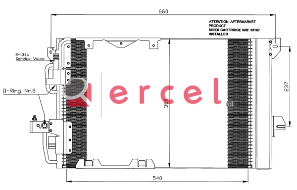 Airco condensor OPC 556