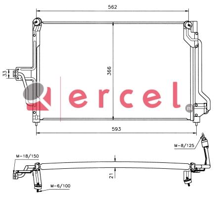 Airco condensor OPC 504