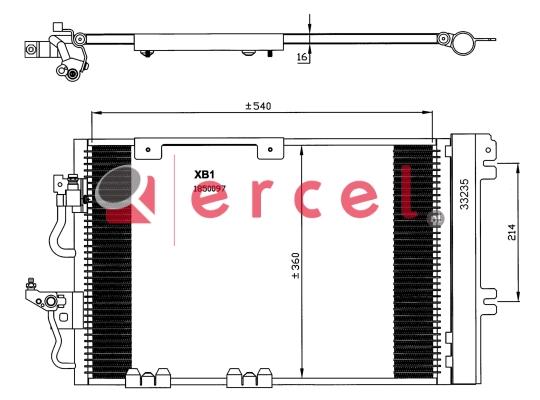 Airco condensor OPC 580