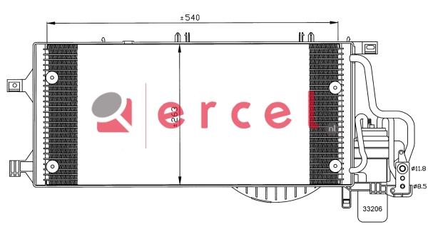 Airco condensor OPC 576