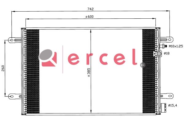 Airco condensor AUC 566