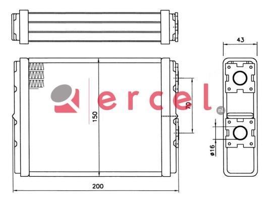 Kachelradiateur OPH 268