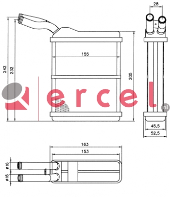 Kachelradiateur OPH 256
