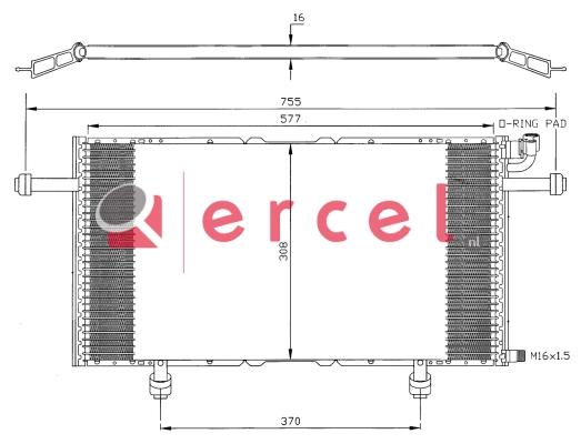 Airco condensor OPC 550