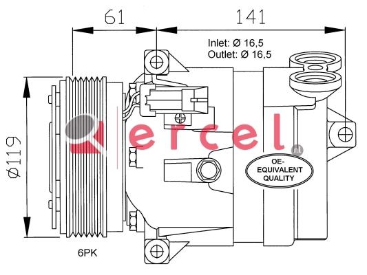 Airco compressor OPK 008