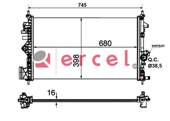 Radiateur OPR 744