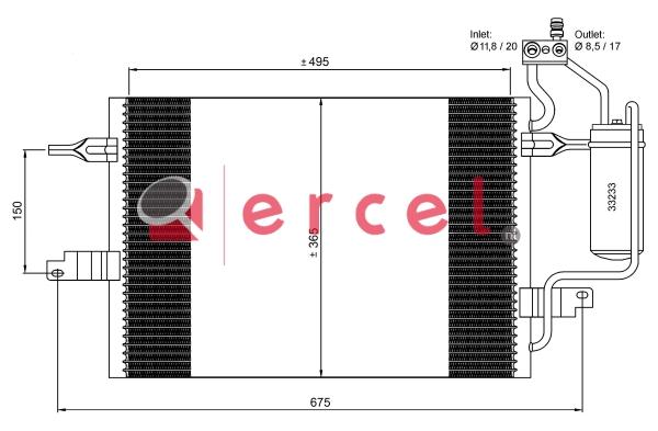 Airco condensor OPC 564