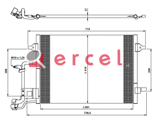 Airco condensor AUC 540