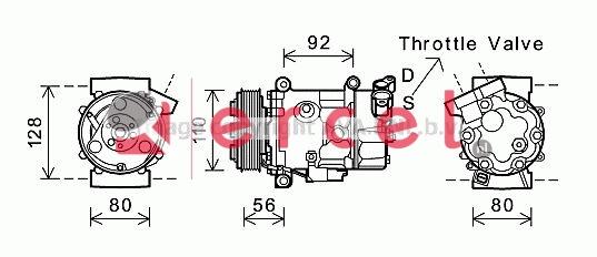 Airco compressor BMK 048 OEM
