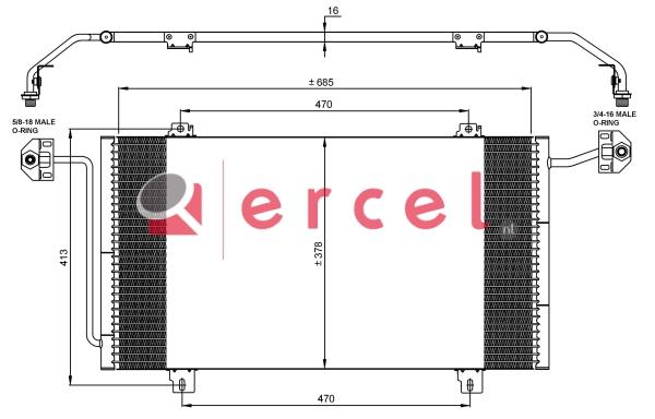 Airco condensor REC 594