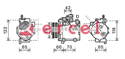 Airco compressor SUK 008 OEM