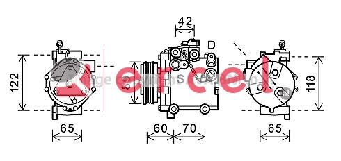 Airco compressor SUK 008