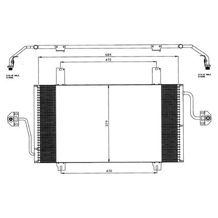 Airco condensor REC 576