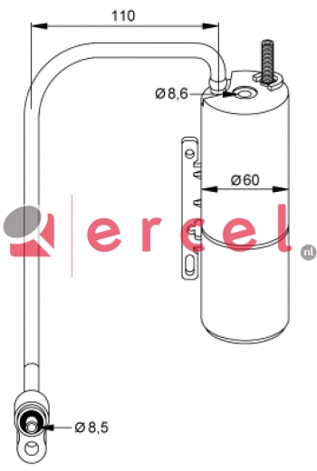 Airco droger/filter OPD 016
