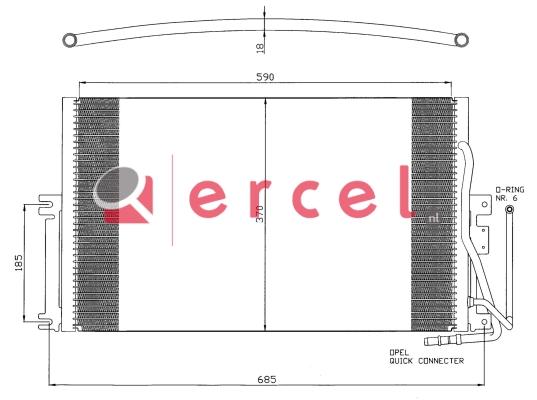 Airco condensor OPC 546