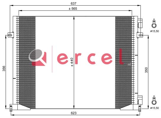 Airco condensor REC 593