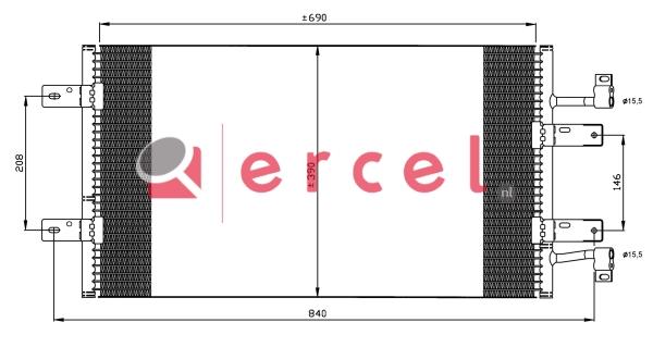 Airco condensor REC 573