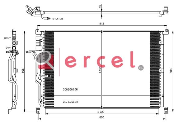 Airco condensor AUC 503