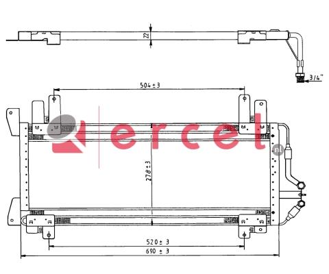 Airco condensor REC 516