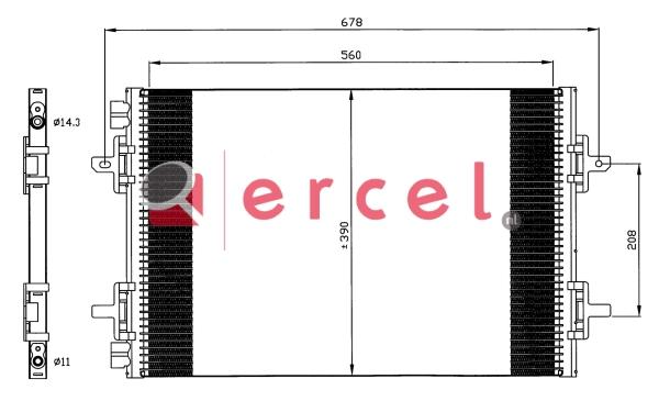 Airco condensor REC 595