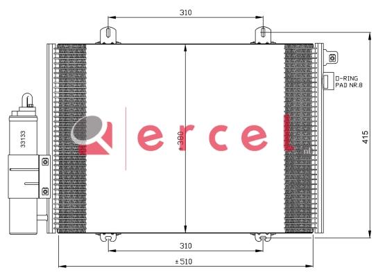 Airco condensor REC 582
