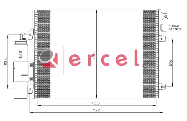 Airco condensor REC 503