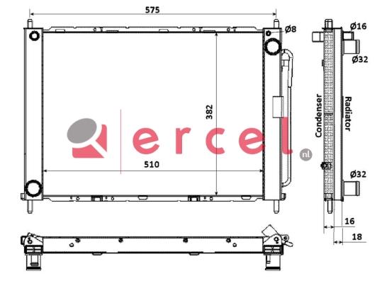 Airco condensor REM 765