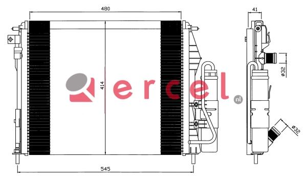 Airco condensor REC 705