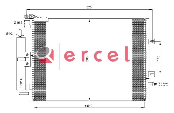 Airco condensor REC 535
