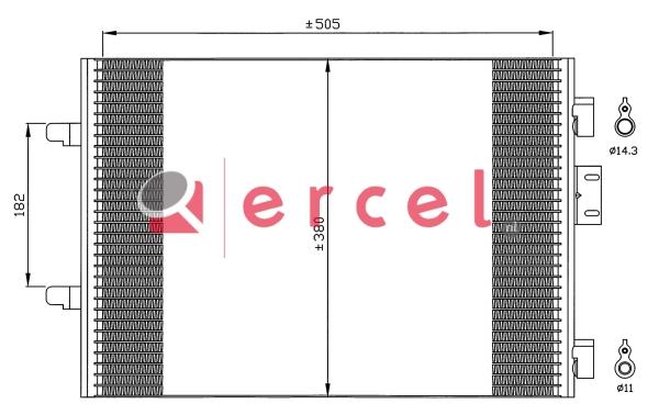 Airco condensor REC 597