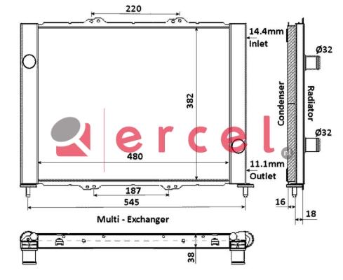Airco condensor REC 763