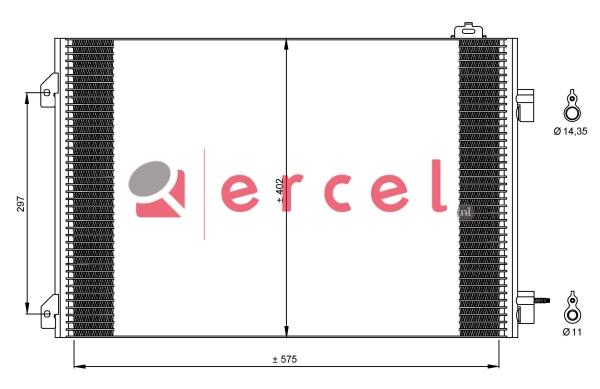 Airco condensor REC 519