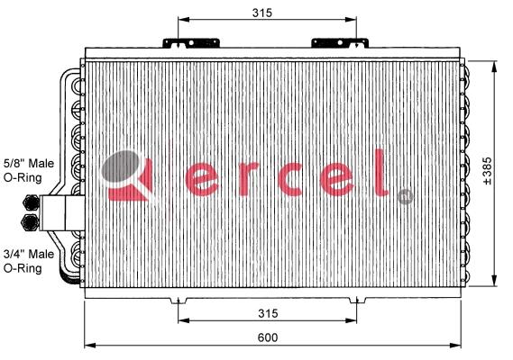Airco condensor REC 562