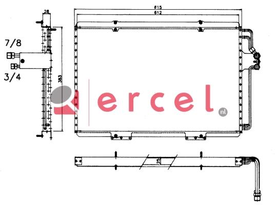 Airco condensor REC 512