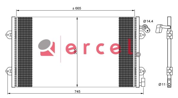 Airco condensor REC 505