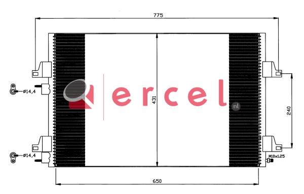 Airco condensor REC 515