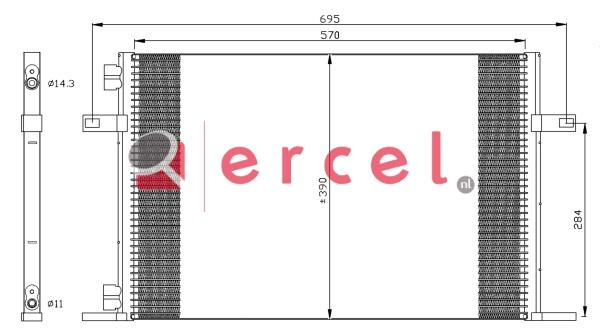 Airco condensor REC 507