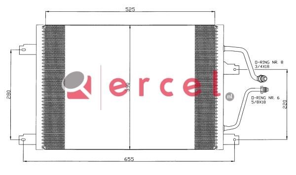 Airco condensor REC 560