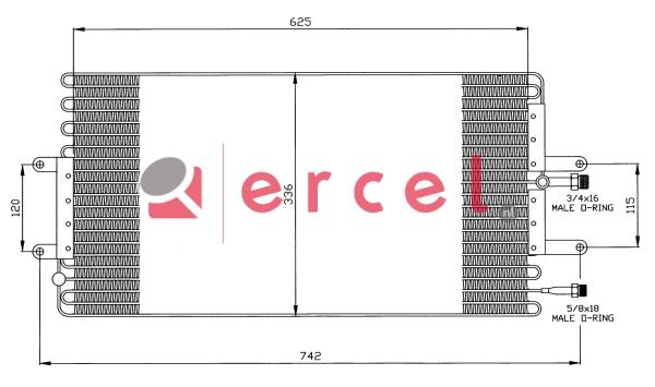 Airco condensor REC 509
