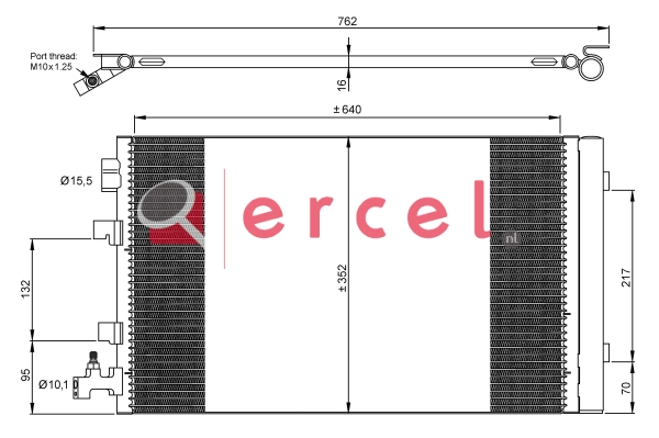 Airco condensor REC 589
