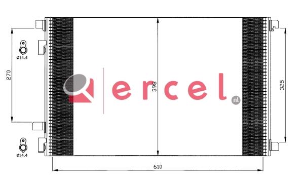 Airco condensor REC 569