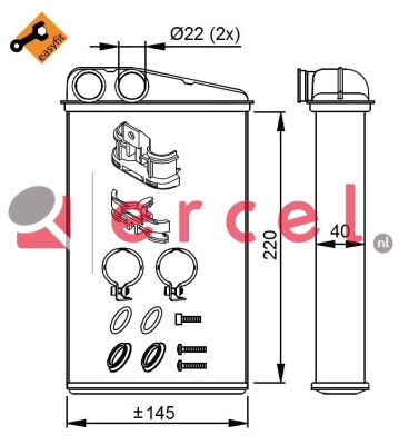 Kachelradiateur REH 209
