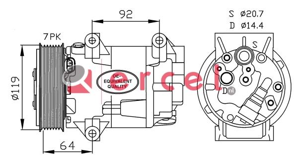 Airco compressor REK 064