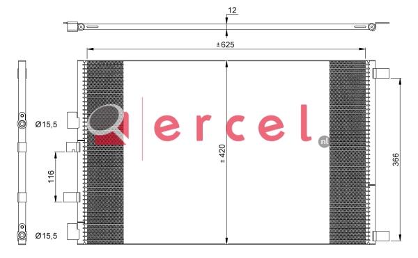 Airco condensor REC 539