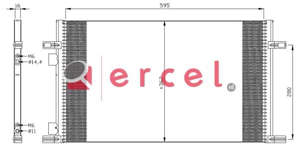 Airco condensor REC 574