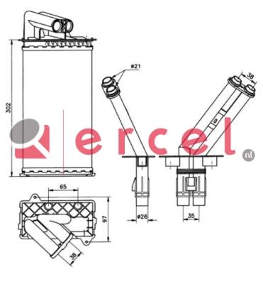 Kachelradiateur REH 234