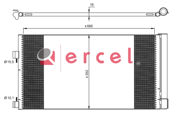 Airco condensor REC 555