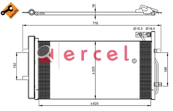 Airco condensor AUC 580